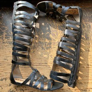 SAM EDELMAN Bryant High Black Gladiator Sandal 7.5